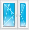 balkonové dveře dvoudílné