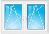 dvoudílné okno se sloupkem
