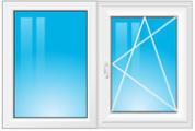 dvoudílné okno se štulpem
